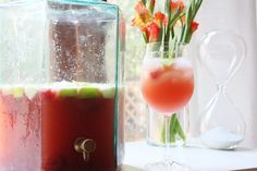 Pink & Green Sangria for sip n see