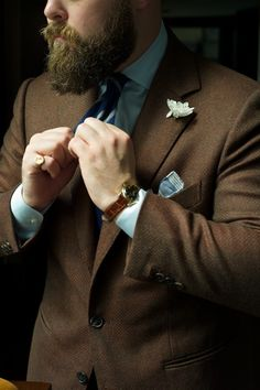 There's nothing wrong with a groom wearing chocolate #beard