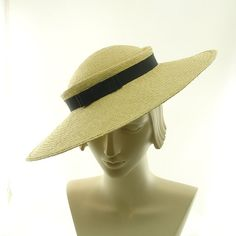 Straw Saucer Hat for Women  New Vintage Style by TheMillineryShop, $225.00