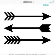 Arrows SVG Digital Die Cut Files for cutting machines, card making, scrapbooking - instant download - limited commercial use ok