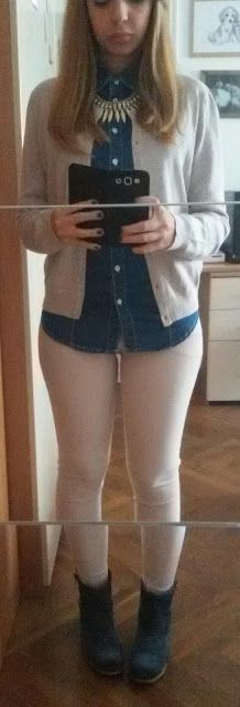 Patchwork Myself: Jeans and bejge.