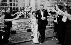 Black Ike Behar slim-fit tuxedo captured by Kristyn Hogan Photography Slim Fit Tuxedo, Black Tuxedo, Groom Style, Wedding Wear, Wearing Black, Groomsmen, Real Weddings, Menswear, Photography