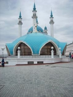 "This is a Muslim Mosque located along the Volga River in Kazan, Russia.  ""The magnificent Kol Sharif mosque is the largest mosque in Europe and home to a rich collection of ancient books. The mosque was reconstructed in 2005, replacing the original façade that was destroyed by Ivan the Terrible in the 16th century. The Orthodox Church also has an architectural masterpiece in Kazan's Kremlin. The Annunciation Cathedral is a gem not to be missed; completed in 1561, it is believed to have been…"