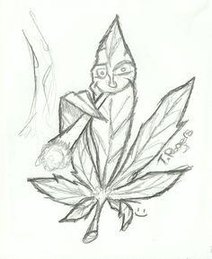 Trippy Drawings, Cool Art Drawings, Art Drawings Sketches, Disney Drawings, Pencil Drawings, Drawing Disney, Marijuana Leaves, Street Art, Easy Pencil Drawings