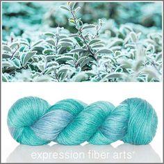 Expression Fiber Arts, Inc. - FIELD OF FROST ALPACA SILK DK YARN , $33.00 (http://www.expressionfiberarts.com/products/field-of-frost-alpaca-silk-dk.html)