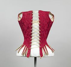Bodice Date: 1775–89 Culture: European Medium: silk, leather, iron, baleen, linen