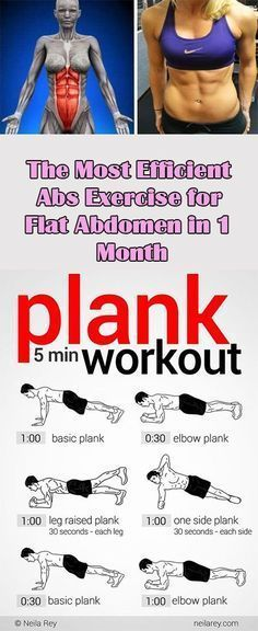 "The Most Efficient Abs Exercise for Flat Abdomen in 1 Month There isn't anything more efficient than this. I'm telling you. I've been doing many exercises but this one is the ""mother"" of all. The summer period is coming and you know how we all want to look good in our bikinis. No, your age doesn't …"