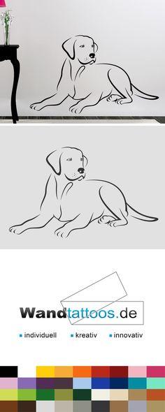 Wandtattoo Labrador als Idee zur individuellen Wandgestaltung. Einfach Lieblingsfarbe und Größe auswählen. Weitere kreative Anregungen von Wandtattoos.de hier entdecken!