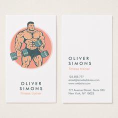 Business Card for Fitness trainer Custom office supplies #business #logo #branding