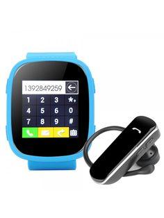 Ken Xin Da S7 GSM Smart Watch (Blue) Led Watch, Android Watch, Waterproof Watch, Smart Watch, Watches, Blue, Smartwatch, Wristwatches, Clocks