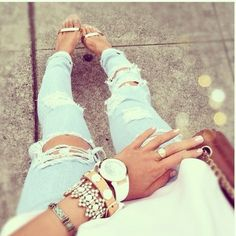 Wripped Jeans... One of my favs