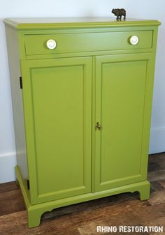 Stunning Green Painted Vintage Cabinet - Buffet
