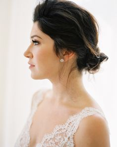 Beautiful bridal hair. A Romantic Napa Wedding. #Celebstylewed #Bridal. @Celebstylewed