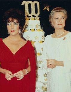 Elizabeth Taylor and Grace Kelly