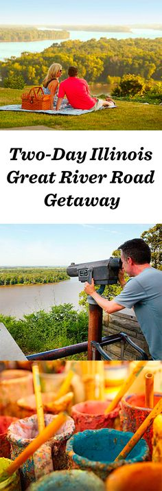 The Great River Road takes the name Meeting of the Great Rivers National Scenic Byway between Alton and Grafton, Illinois,  north of St. Louis. http://www.midwestliving.com/travel/illinois/two-day-getaway-along-the-great-river-road/ #roadtrip #greatriverroad