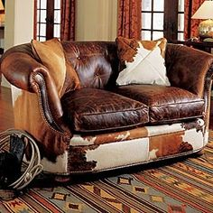 ~Ranch Style Decoration Ideas 13~ Just invites one to curl up & enjoy the rest....
