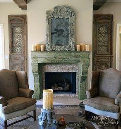 #gothic #fireplace #antique #stone #carved #hand #architecture #Design #baroque #renaissance #era #stove #chimney