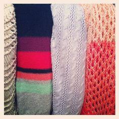 Colorful knits at American Eagle holiday