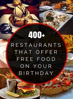 Where to Eat For Free on Your Birthday