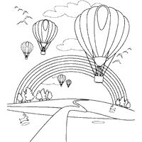 Free printable Balloon Season coloring sheet is one of many Hot Air Balloon Coloring Pages. Just click, print, and get out your crayons!