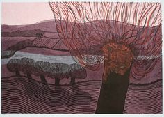 Cuckmere Valley A/P by Robert Tavener Printmaking Ideas, Lino Cuts, Landscape Prints, Silk Screen Printing, Etchings, Block Prints, Folklore, Landscapes, British
