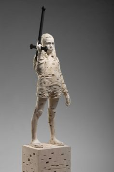statue-porn:     Our mother bake for us, Gerhard Demetz, 2011.