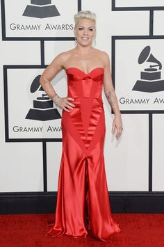 Pink | Fashion On The 2014 Grammy Awards Red Carpet