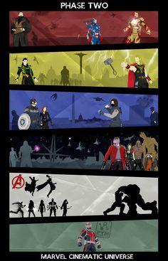 Marvel Cinematic Universe - Phase 2 Poster WIP V.2 by Mr-Saxon