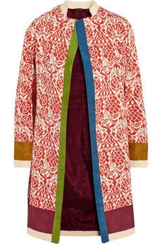 Vineet Bahl Printed cotton and silk-blend coat | NET-A-PORTER