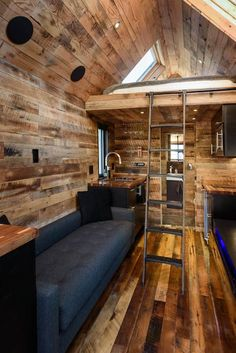 House in Seattle, United States. We designed and built this modern/rustic tiny house and are excited to share it with you! (Chad is an architect and Lindsay is a graphic designer; together we obsessed over every detail of the house.) The house is located in the heart of West Seat...