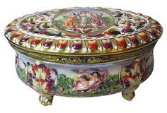 Italian Porcelain Box w/ Reticulated Lid on OneKingsLane.com