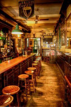 "Irish Pub:  #Irish #Pub ~ Interior of an ""Irish Bar Near The Cathedral,"" Seville, Spain, by Stephen Candler Photography."