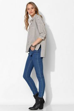 BDG Stripe Oversized Button-Down Shirt #urbanoutfitters