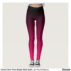 Create Your Own Black and Hot Bright Pink Ombre Leggings                                                                                                                                                                                 More
