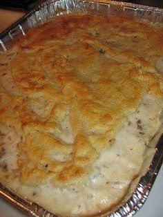 Biscuit, sausage and  gravy casserole