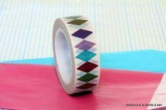 Masking tape losanges multicolores  15mm x 10m  : Masking tape par akseluna