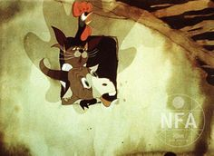 "Scene from Jiří Trnka's ""The animals and the brigands"" (aka Zviratka a Petrovsti) Moose Art, Scene, Painting, Animals, Image, Animales, Animaux, Painting Art, Paintings"