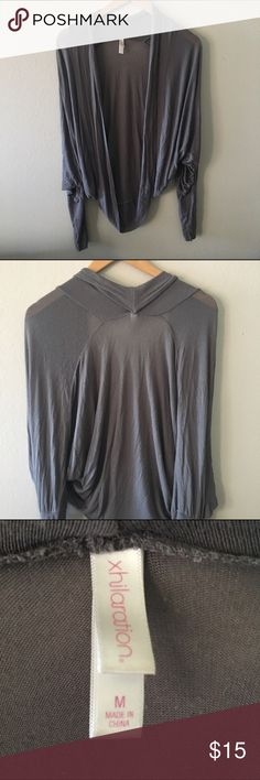 Cardigan (Gray) Thin cardigan with loose sleeves (flying squirrel shirt) 😄 Xhilaration Tops Tunics