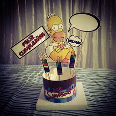 Bocetando Centro de Mesa para Fiesta Temática The Simpsons