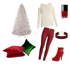 """""""ZAFUL"""" by elmazugic ❤ liked on Polyvore featuring Velvet by Graham & Spencer, H&M, 2 Lips Too and Chanel"""
