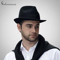 Elee Unisex Adult Solid Color Sequins Fedora Hat