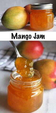 Mango Jam Homemade Mango Jam is the perfect way to preserve mangoes. For this simple no pectin mango jam recipe, The Jam, Gooseberry Jam, Refrigerator Jam, Mango Tart, Tandoori Masala, Jelly Recipes, Mango Dessert Recipes, Recipes With Mango, Juice Recipes