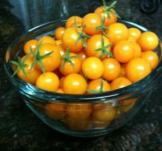 Life is a bowl of cherry tomatoes. Sun Gold Tomatoes-the sweetest ever!