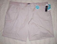 15.83$  Buy now - http://vibkr.justgood.pw/vig/item.php?t=72n2d547104 - 4X womens shorts LEE bermuda relaxed fit TAN Khaki beige stretch 26W M cruise 15.83$