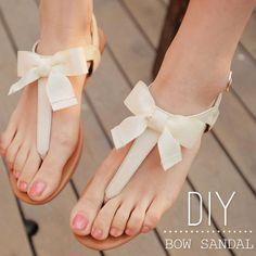 DIY ribbon sandals