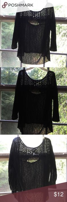 Dark grey blouse Dark grey blouse looks good with jeans! American Eagle Outfitters Tops Blouses
