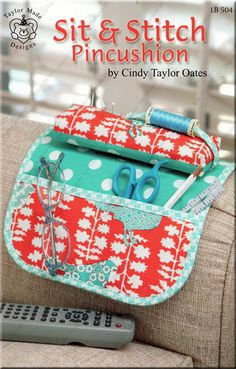Sit & Stitch Pincushion pattern booklet by Cindy Taylor Oates, $