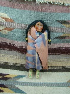 Item # 452R - Vintage Pre-1940's Wisconsin Dells Skookum Doll — EAGLE ROCK TRADING POST-Native American Jewelry