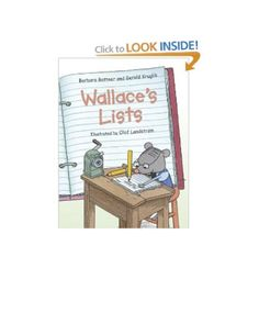 Wallace's Lists... A few mentor texts for list making. Kindergarten writers workshop