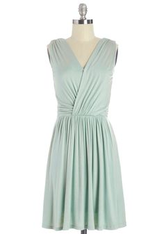 Soft, Sweet Strumming Dress. Tonights band practice has gone acoustic, with you taking the lead in this jersey dress! #mint #modcloth
